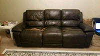 free media center recliner sofa. genuine leather.
