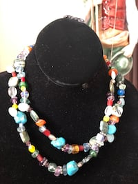 Two layer colourful stone necklace Toronto, M2R 3N1