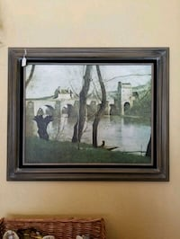 brown wooden framed painting of people Albuquerque, 87111