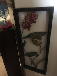 Black metal framed 3D metal flowers Calgary, T2Y 2T4