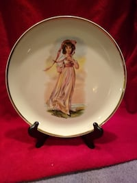 Posing girl plate SOUTHBEND