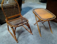 Vintage Vermont Tubbs Snowshoe Chair and Table ANCHORAGE