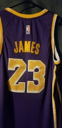 Brand new size 54 stitched Lebron James Lakers jersey