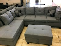 gray fabric sectional sofa with ottoman Brampton, L6R 3L1