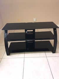 black wooden TV stand with mount Cape Coral, 33914