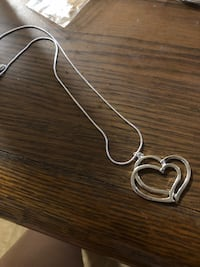 Double Heart Silver Necklace Knoxville, 37917
