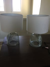 Cage/Wire Table lamps (2)