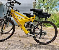 yellow and black full suspension mountain bike Bowie, 20715