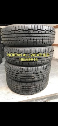 Nokian WRG3 185/65r15 (80%+)  All Weather  Milton, L9T