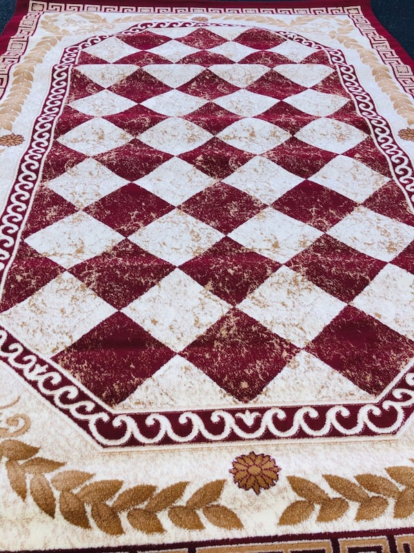 New red rug size 8x10 nice red carpet 7fad4714-fc7e-4e25-98ef-a86cf9c244d2