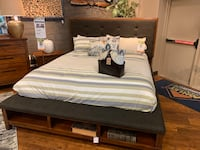 white and brown bed sheet 2176 mi