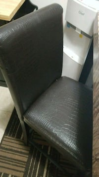 black leather padded armless chair Lloydminster, T9V 1C8