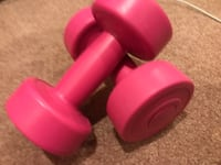 pair of pink fix weight dumbbells 2 lbs/each 多伦多, M1T 2P6