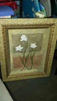 Mounted artwork of Lillies