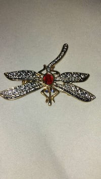 Dragonfly pin with red emerald Elkton, 21921
