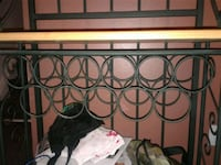 Green metal unit and wine rack  Mississauga, L4T 2E2