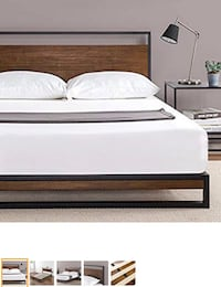 New queen platform bed frame with headboard  Columbus, 43228