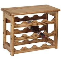 12 bottle wine rack with cheese tray with handles Ladysmith
