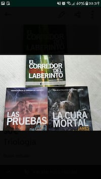 The Maze Runner de James Dashner 1 a 3 captura de pantalla de la serie de libros