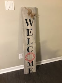 Hand-painted 4ft tall Christmas sign.Custumized orders.24 hrs Deliver