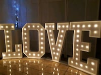 LOVE Marquee 3ft tall $50 each letter rental Vaughan