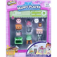 New in pkg, Shopkins Happy Places Kitty Kitchen Decorator's Pack Windsor