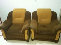 3+1+1 brown fabric  sofa sets Bengaluru