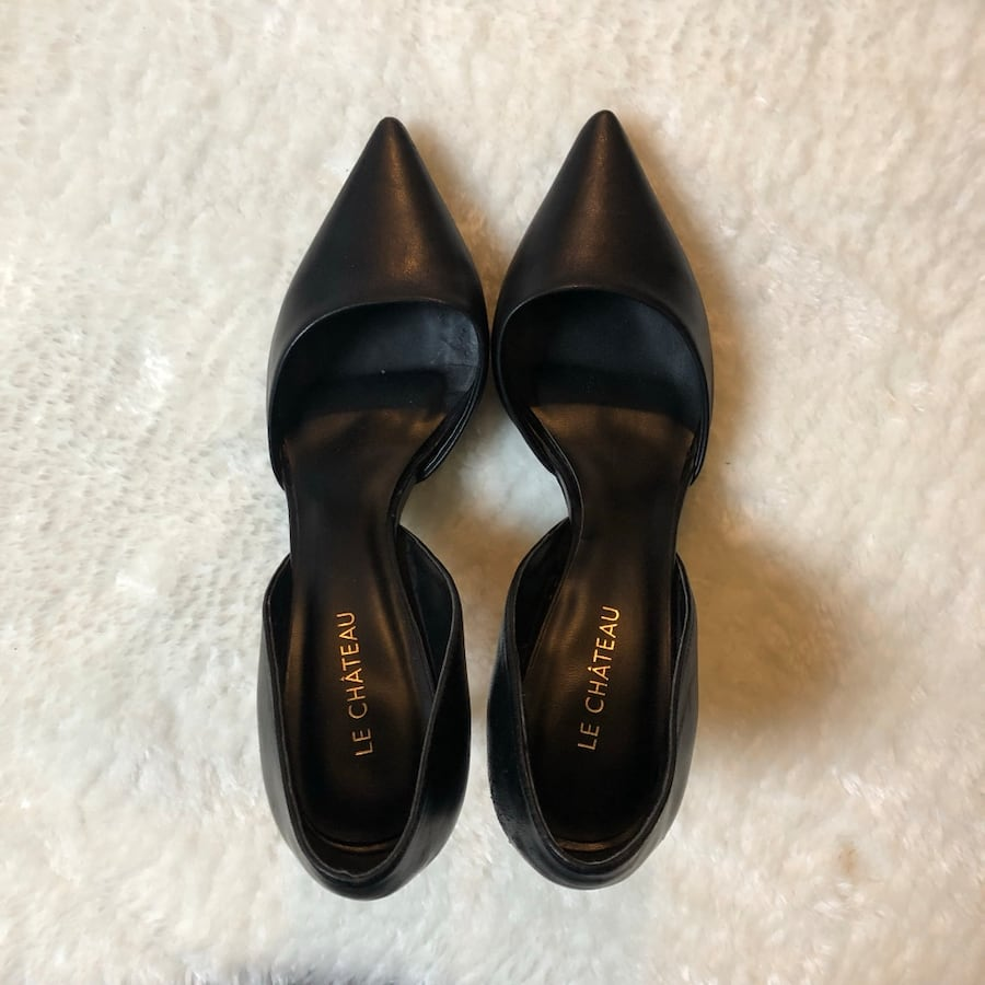 Leather Le Chateau D'Orsay Heels 8a1a4696-7ff7-4a70-8a38-7ce40ddfc629