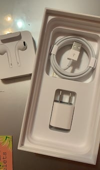 Apple EarPods and charger