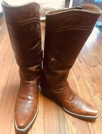 Pair of brown leather Ariat riding boots