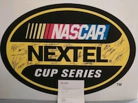 Nascar sign autograph by the cup drivers Millis, 02054