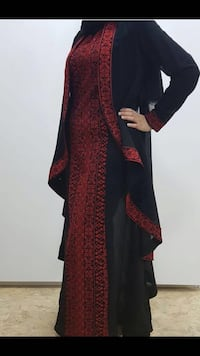 women's black and red long sleeve dress Mississauga, L5R 3N8