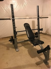 Weight bench and lat pull down