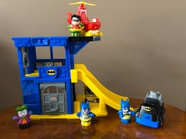Fisher price little people DC Bat cave