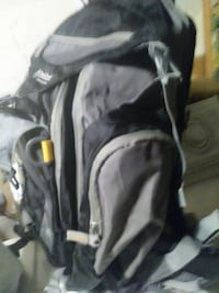 gray and black backpack