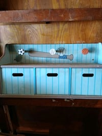 Child's wall mount with drawers