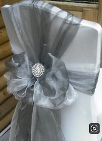 Extra large Grey organza Chair sashes bows also table runners Whitchurch-Stouffville, L4A 5B8
