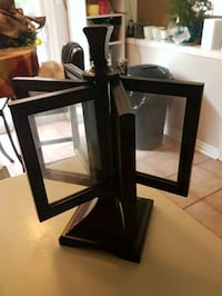 two black wooden framed mirrors Whitby, L1N 8X2