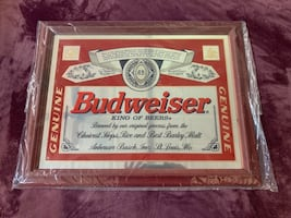 Budweiser trimmed in gold collectible Mirror