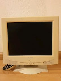 Old school computer monitor