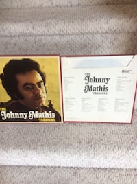 The Johnny Mathis Treasury 6 LP Albulms Box Set( 2 part cover)