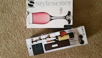 Automatic cork screw bottle opener with 2 glasses. Austin, 78744
