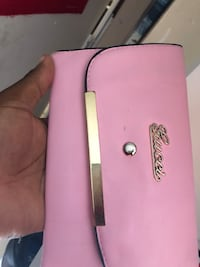 pink and black leather wristlet North Lauderdale, 33068