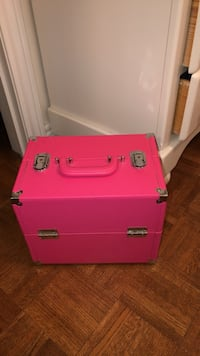 Hot pink make up carrier