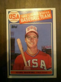 Topps Mark McGwire rookie card Fairfax, 22032