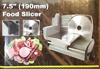 "New 7.5"" electric powerful meat slicer for sandwiches hot pot slice pizza etc bread Delta, V4E 3J2"