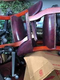 Purple and black leather handbag Fairfax, 22033