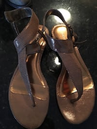 pair of black leather sandals Myrtle Beach, 29577