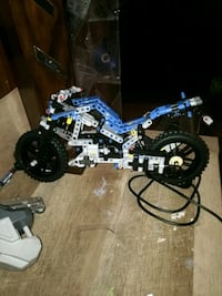 blue and white full-suspension bike Knoxville, 21758