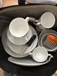 white ceramic dinnerware set with box Toronto, M4E 0A1